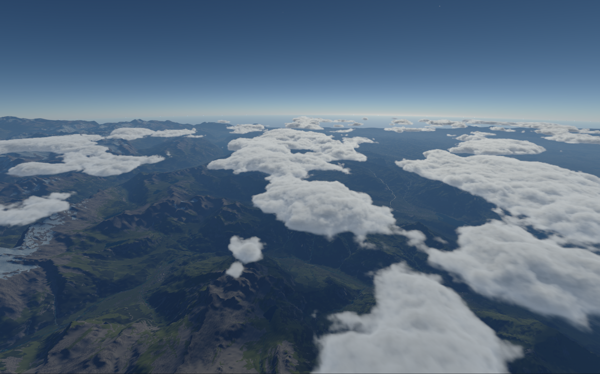 <p>Large scale auto-generated terrain</p>