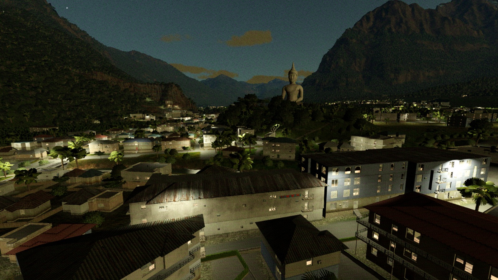 <p>B-One configurable night scenes with thousands of street lamps and more than millions of interior lights</p>