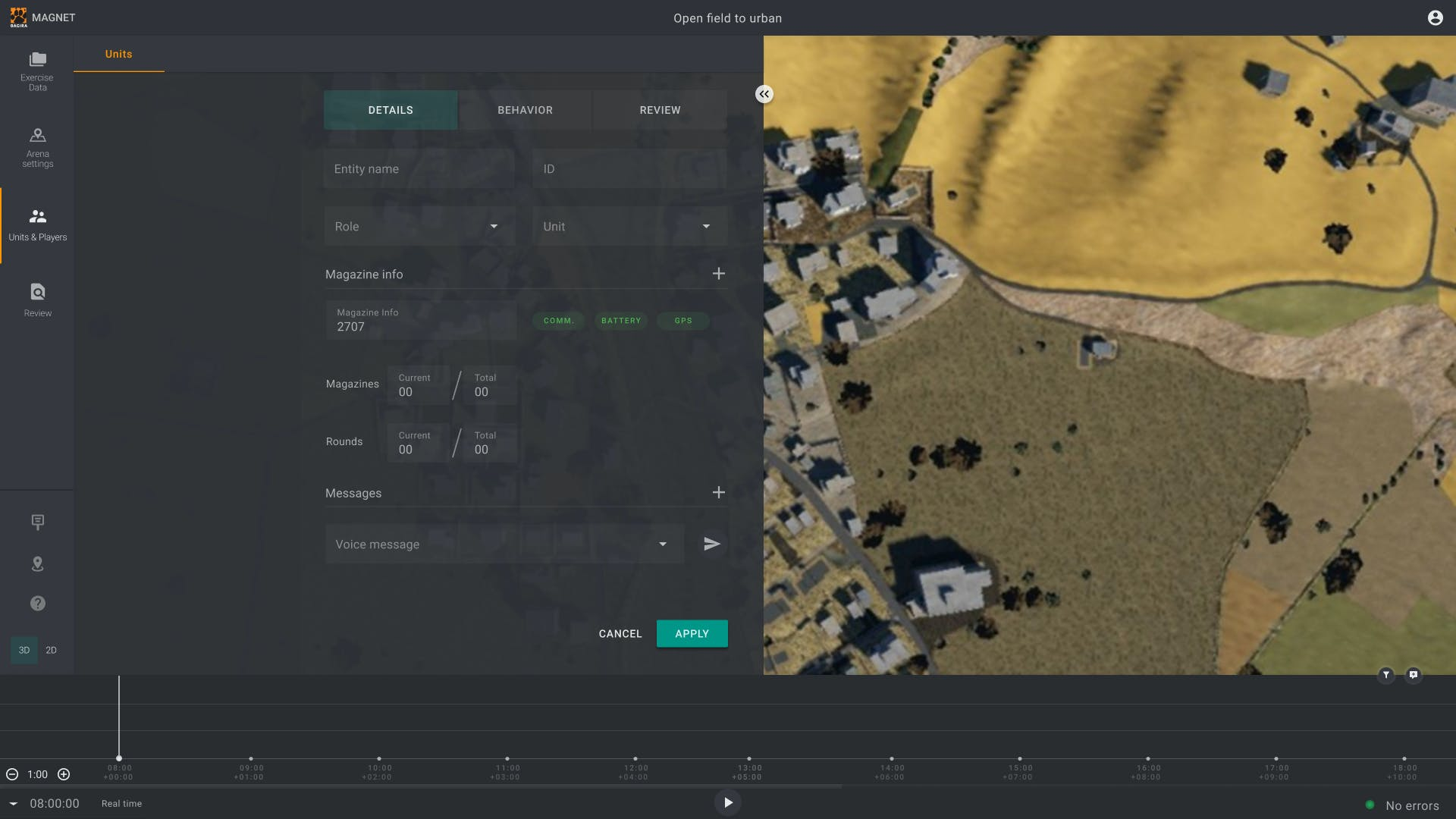 <p>The MAGNET control app monitors the trainees' location and status, and generates an extensive state-of-art technology that enables the unit to combine live and virtual training.</p>