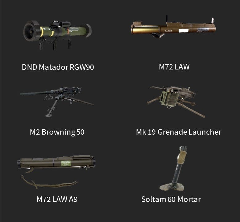 Simulated Weapons gallery